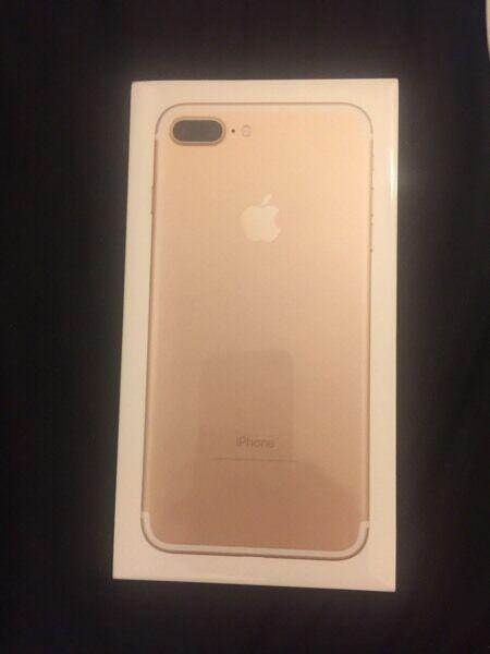 iPhone 7plus 256 gb in gold