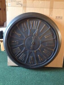 Over size rustic metal clock. Never used Kingston Kingston Area image 2