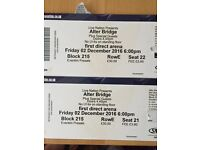 2 x Alter Bridge Tickets
