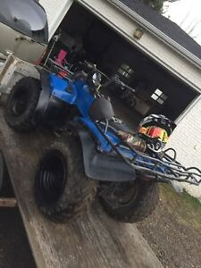 King quad 300 with pull behind trailer Christmas package