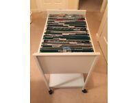 Mobile metal file / storage cart