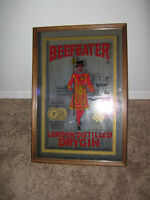 Bar Supplies - Collectible Vintage Beefeater Mirror for The Bar