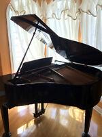 Baby Grand Piano (Samick SG140A) w/ bench *EBONY BLACK FINISH*