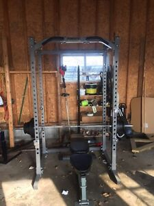 Weight rack, Olympic bar and weights 1000$
