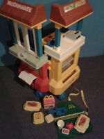 fisher price mc donalds drive thru play centre and acc. $165