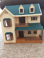 Calico Critters house and accessories