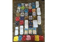 Huge cloth nappy bundle. Birth to potty nappies Essex