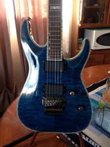 Reduced-Electric guitar-  blue  LTD DELUX