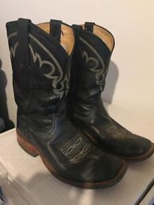 Black Anderson Bean women's western cowboy boots
