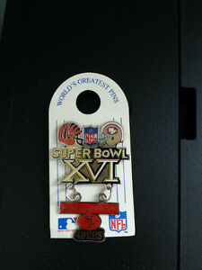 Superbowl 16 Champ's Pin -- 49ers vs Bengals - NEW ON CARD