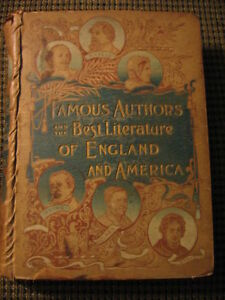Famous authors of England and America. 1890s Hardcover.