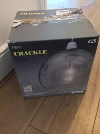 Next crackle light fitting pendant clear