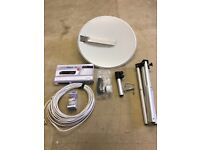 Digital tv dish and receiver for caravan/ motor home etc