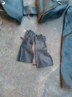 Leather Gloves ,chaps and saddle bags