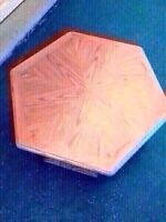 Solid Oak Hexagonal Table