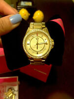 Juicy Couture Gold Watch With Stones, Preowned, Extra Links Incl