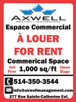 ESPACE COMMERCIAL / COMMERCIAL SPACE FOR RENT! SAINTE-CATHERINE