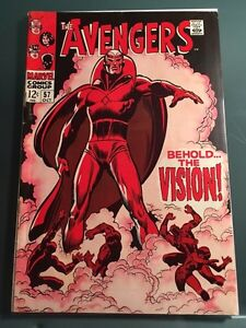 Avengers #57 - 1st appearance of VISION!! And death of Ultron