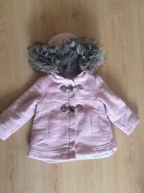 Girls Zara duffle coat age 2-3