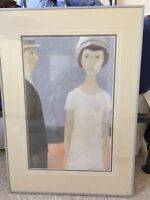 Boy and Girl in metal frame