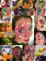 Professional Face Painting & Balloon Art Duo