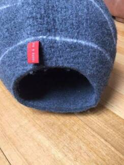 natural wool felted cat bed