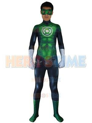 Movie Green Lantern Costume 3D Print Halloween Cosplay Zentai Suit For Kids/Adut