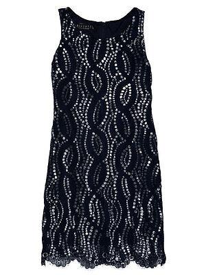 Biscotti Kate Mack Girls Party Dress Navy Sequin Sleeveless Sizes 7, 8, 10 NWT Biscotti Kate Mack