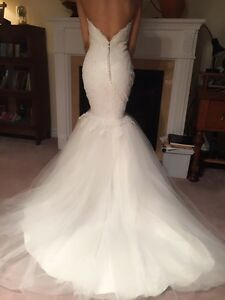 BEAUTIFUL MORILEE NEW MERMAID STYLE WEDDING DRESS GOWN