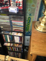 A bunch of dvd's and cd's for sale!