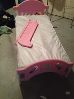 Princess toddler bed and crib mattress