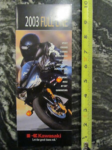 KAWASAKI 2003 FULL LINE MOTORCYCLE BROCHURE CATALOG