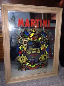 Martini vintage rare liquor bar mirror  London Ontario image 1