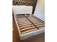 King size ivory bed frame