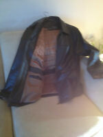 Men's leather jacket - size XL - Lined for winter