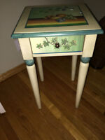 decorative table with drawer