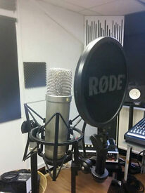 Rode NT1-A with pop filter and shockmount