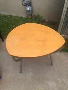 Tear drop (guitar pick) table and chairs