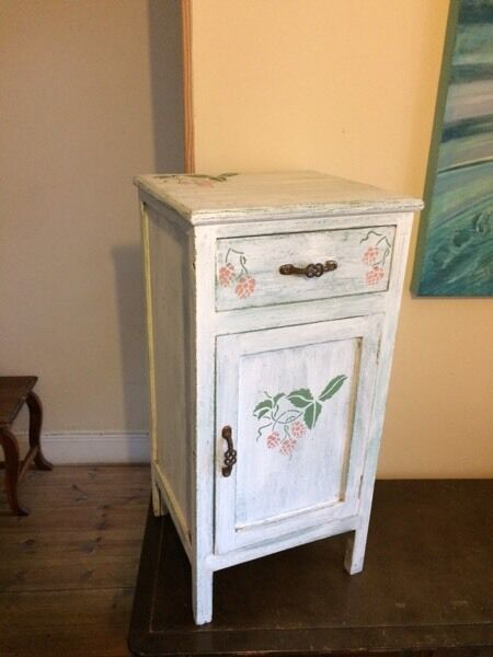 Beautiful Painted Bedside Table