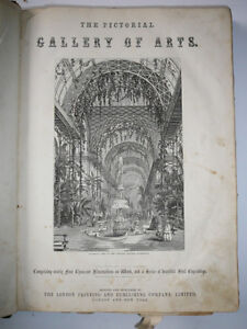 Antique Book Knight's Pictorial Gallery of Arts Useful Arts 1850 London Ontario image 1