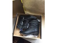 Ladies Black Studded Ankle Boot UK Size 6