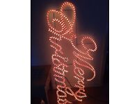 Large merry light up Christmas