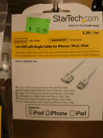 StarTech 1m USB Left Angle Cable for iPhone/iPod/iPad (40 pin)