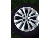 Citroen C4 Grand Picasso 2006-2013 16 inch Alloy Wheel With Tyre 215/55R16 (2009)