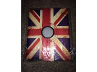 360 Degree Rotating Leather Union Jack Case Cover For Apple I pad 2, 3 and 4