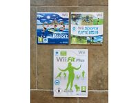 Wii Sports, Sports Resort, and Fit package