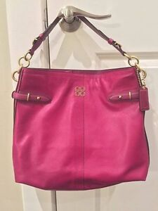 Burgundy Coach Handbag
