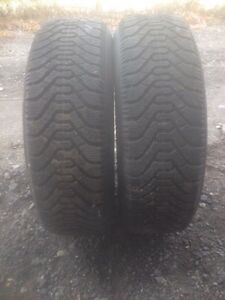 X2 -185/70 14 Goodyear Nordic snow tires on 4x108 rims