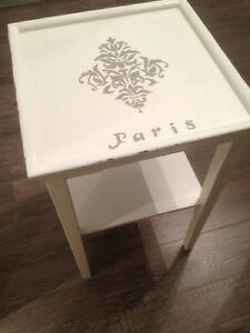 Paris Table White Grey Paint Wood Shabby Chic Decor Room Display Oakville / Halton Region Toronto (GTA) image 2