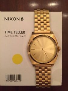 Brand New! Nixon Time Teller Gold/Gold (Uni-sex)